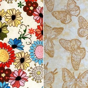 2 yards Vintage Fabric for Craft Projects!